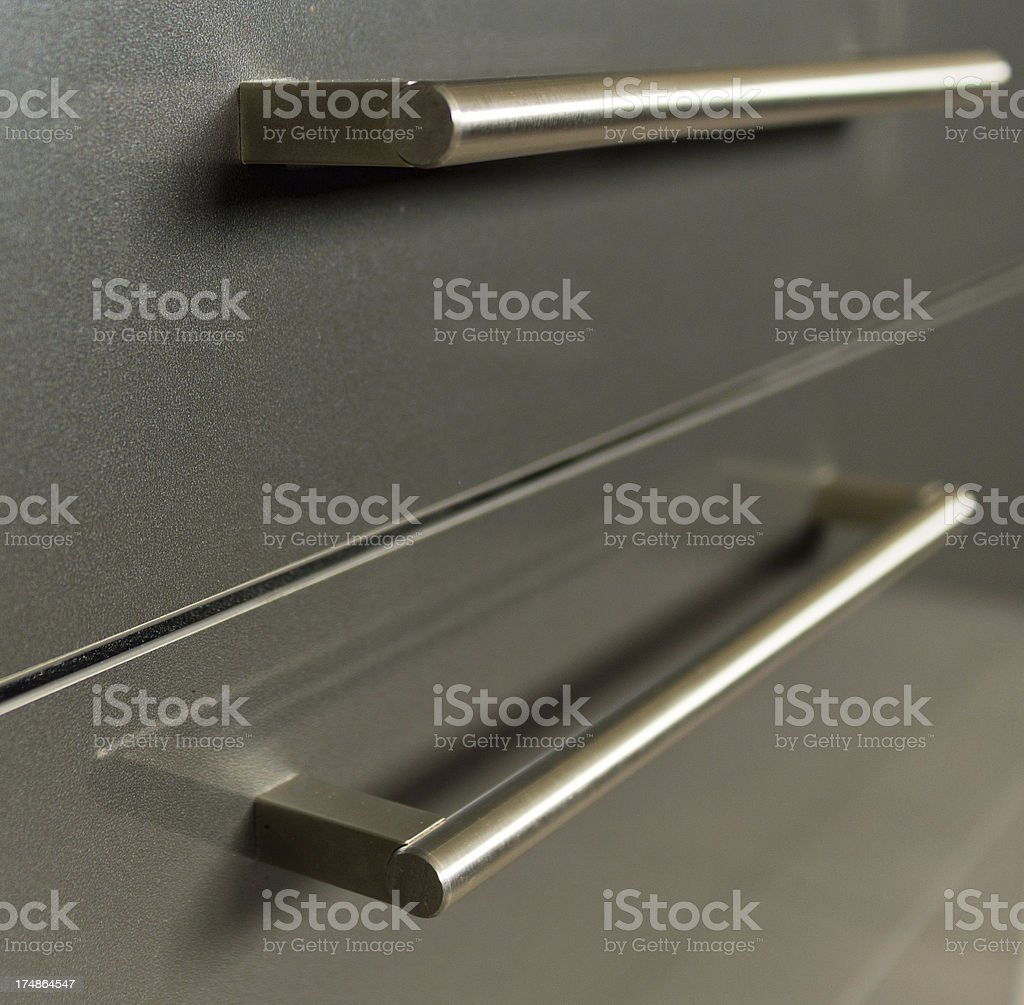 Modern contemporary kitchen drawer royalty-free stock photo
