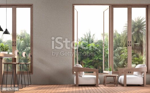 1066863894 istock photo Modern contemporary living and dining room 3d render 994217130