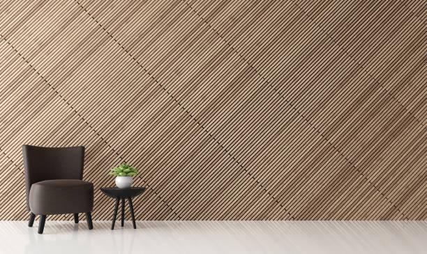 moderne zeitgenössische wohnzimmer interior 3d render bild - meditationsräume stock-fotos und bilder