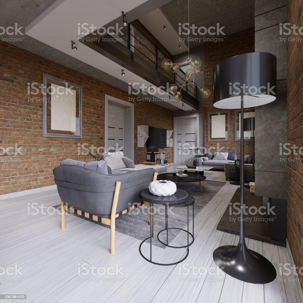 Photo libre de droit de Loft Contemporain Moderne Design ...