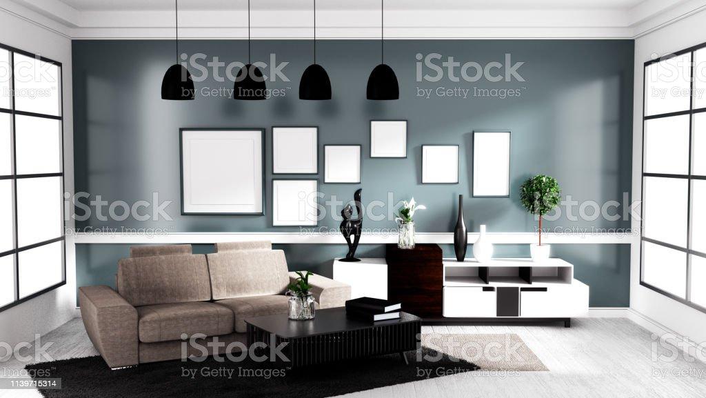 Photo libre de droit de Style Contemporain Moderne Salon ...