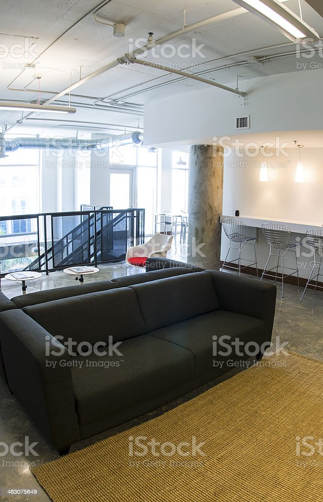 Modern Contempory Design Miami Business Lounge Waiting Room stock photo