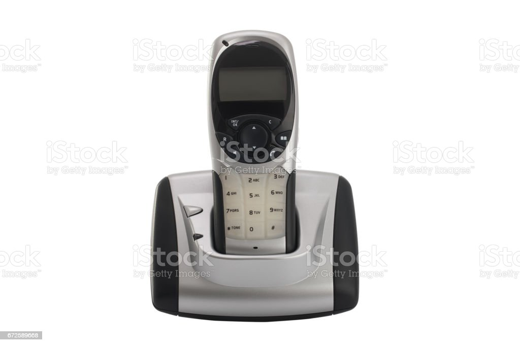 Modern, Cordless Home Phone, Isolated On A White Background Royalty Free  Stock Photo
