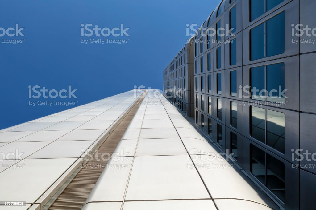 Modern kurumsal binalar finansal bölgesinde, Frankfurt, Almanya royalty-free stock photo