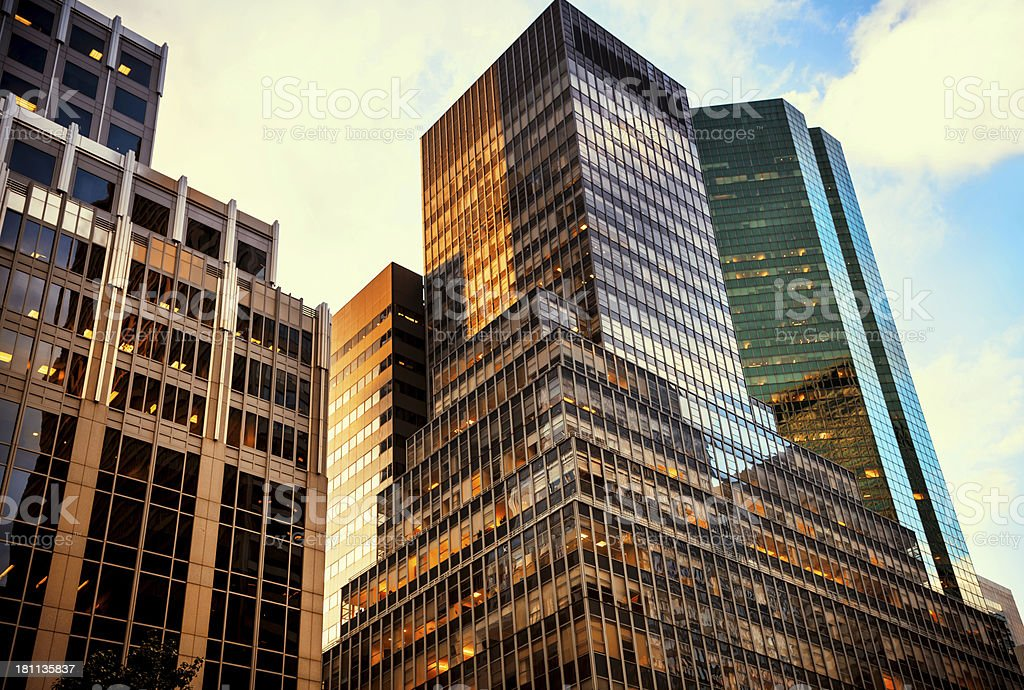 Modern Corporate Glass Building, NYC royalty-free stock photo