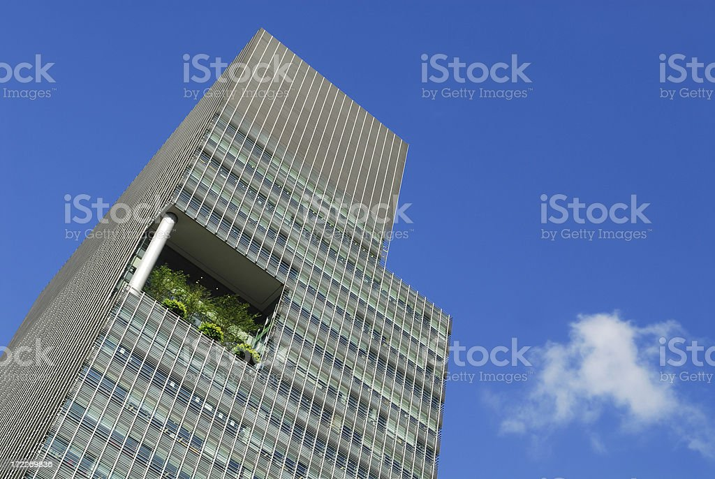 Modern Corporate Office with garden royalty-free stock photo