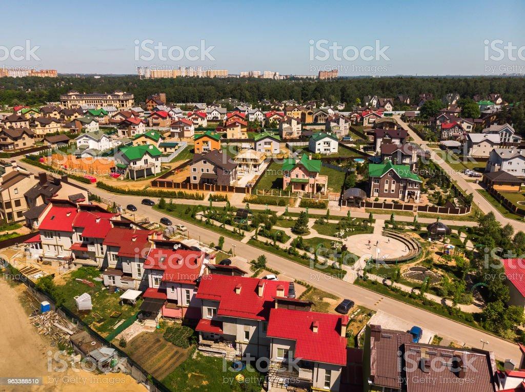 Modern stuga by nära Moskva, Ryssland - Royaltyfri Arkitektur Bildbanksbilder