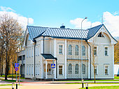 Modern country house with courtyard. Druskininkai