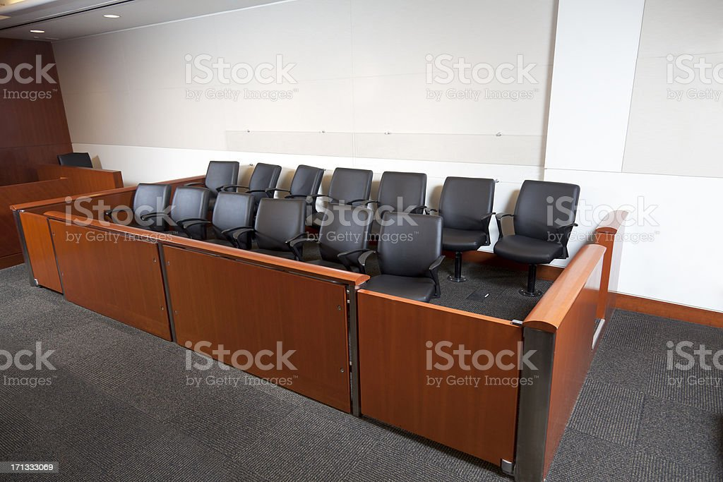 Modern Courtroom Jury Box stock photo