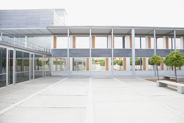 Modern courtyard and office building  courtyard stock pictures, royalty-free photos & images