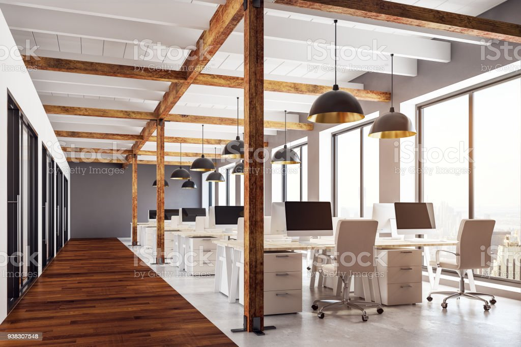 Modern coworking office royalty-free stock photo