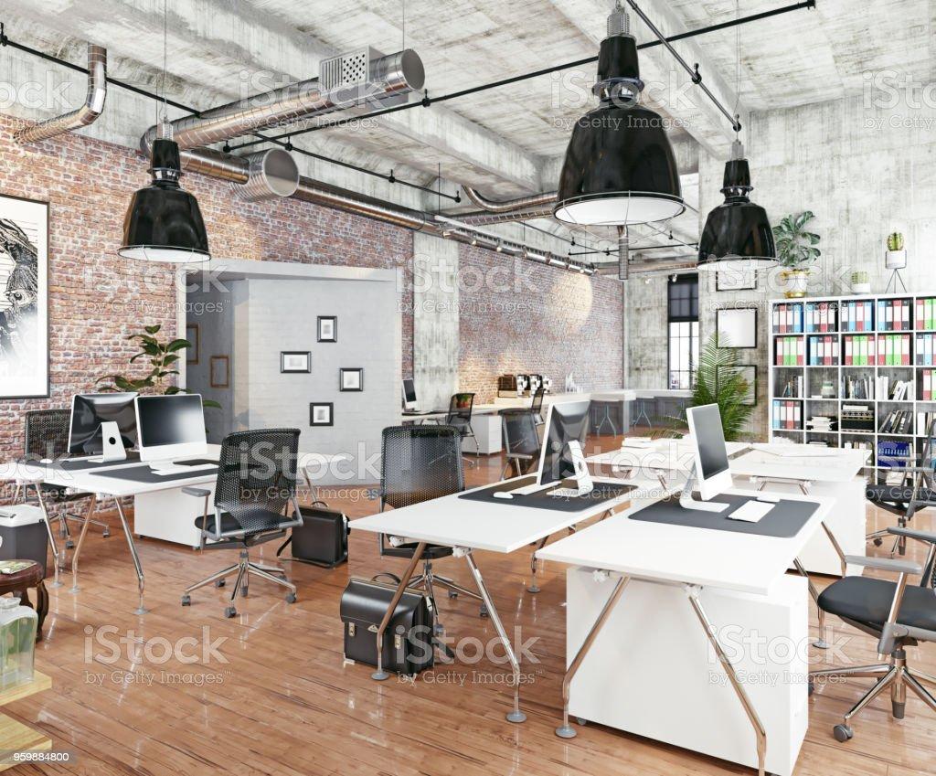 Oficina de coworking moderno - foto de stock