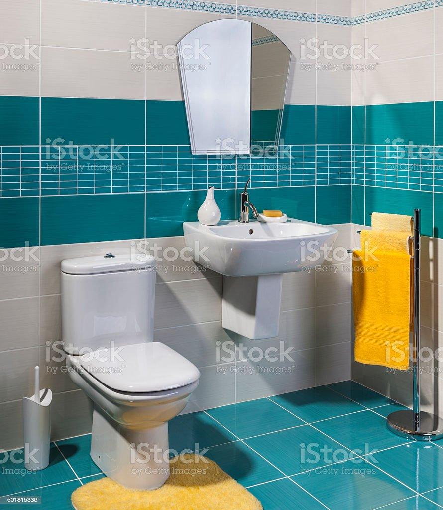 modern cozy bathroom stock photo