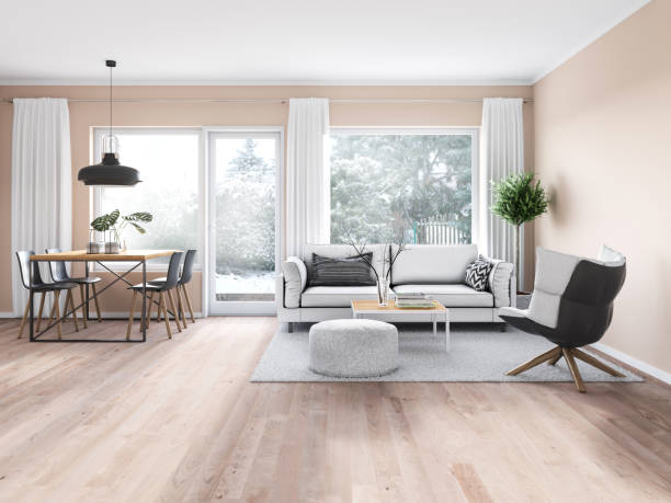 modern cozy interior - nelleg stock photos and pictures