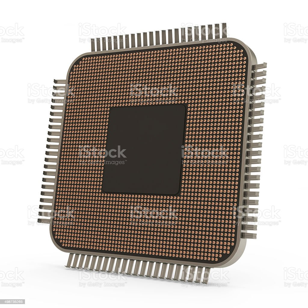 Modern CPU - Central Processing Unit stock photo