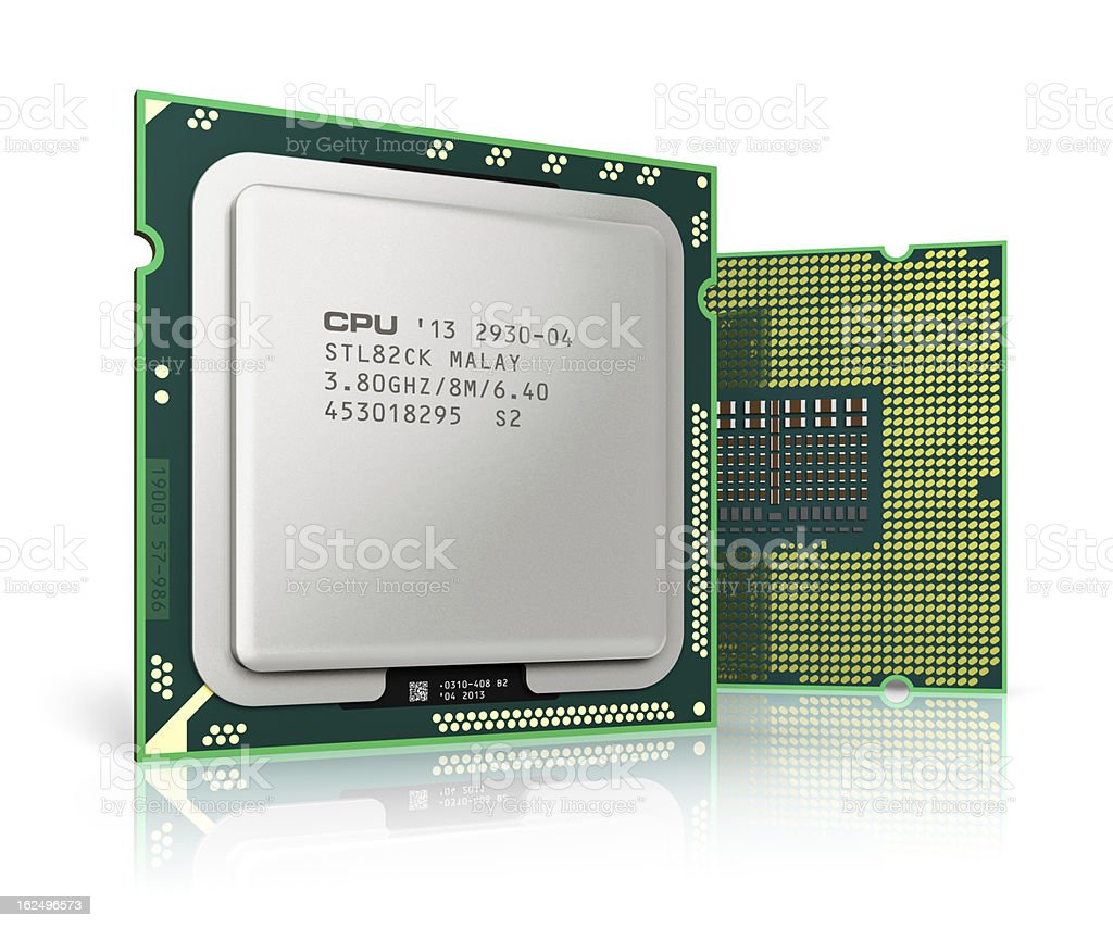 Modern CPUs stock photo