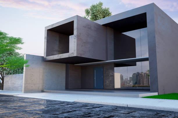 Modern Cubic Villa stock photo