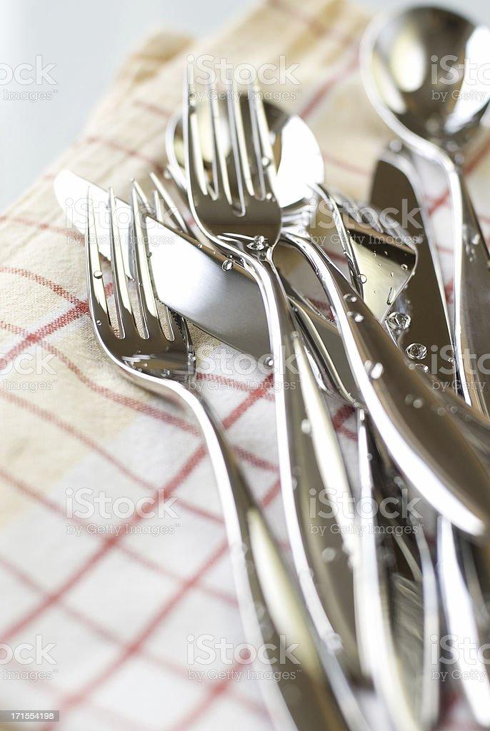 Modern cutlery stock photo