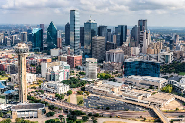 Modern Dallas Skyline stock photo