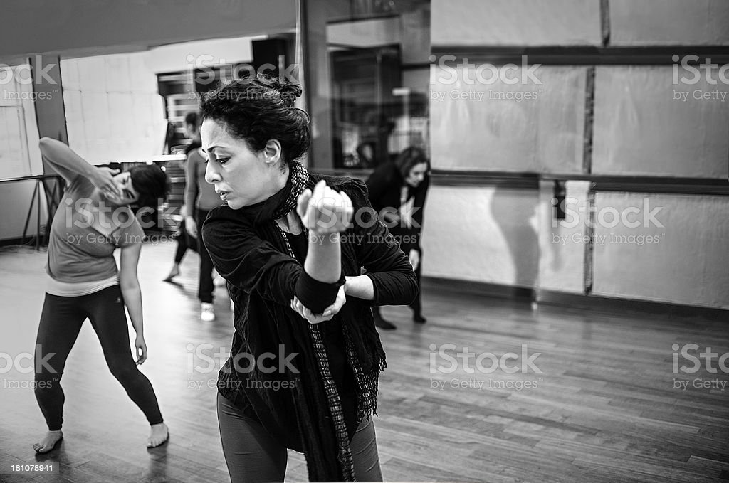 Modern dance classroom royalty-free stock photo