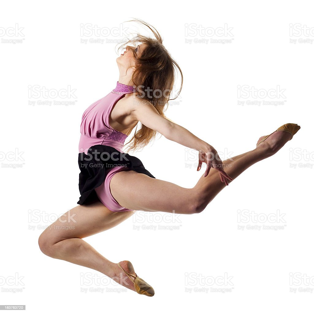 Modern dancer isolated on white stock photo