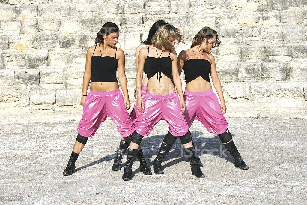 Modern dancers stock photo