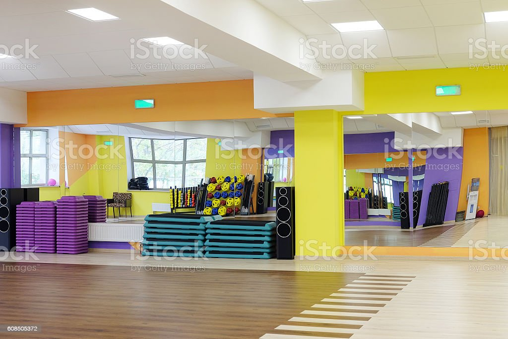 modern dancing hall stock photo