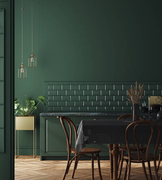 Modern dark deep green kitchen interior wall mock up picture id1188960443?b=1&k=6&m=1188960443&s=612x612&w=0&h=jjp vhkir0cb7o83hgc4xth6swzixckdc quuxxt2cg=