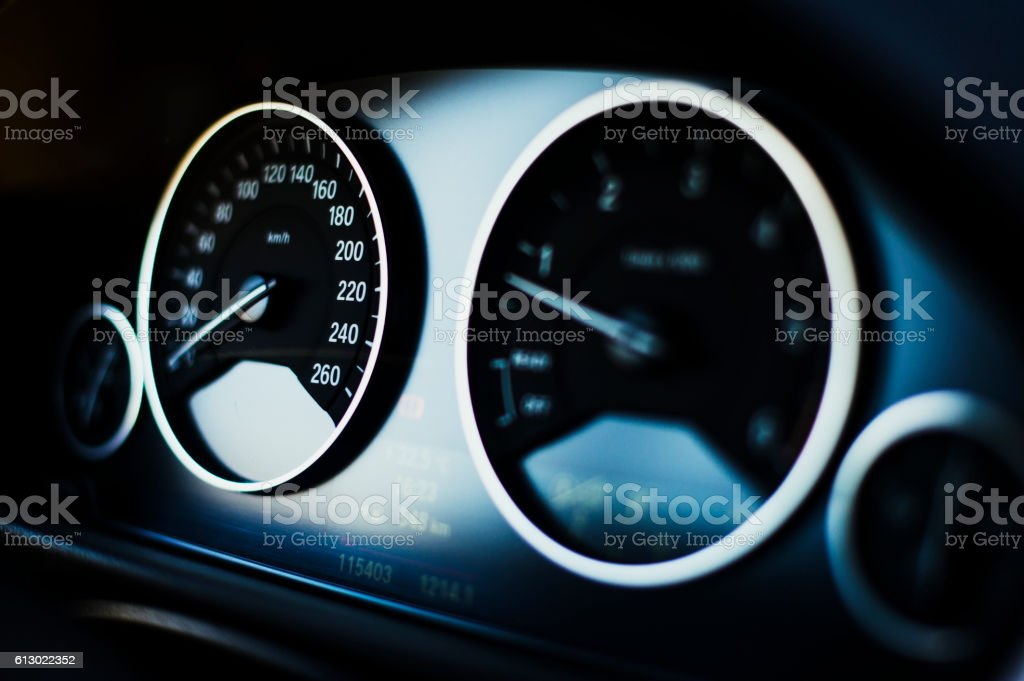 Modern Dashboard of A Car stock photo
