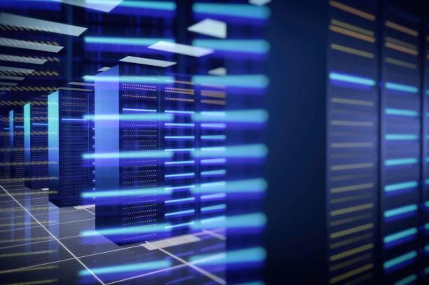 modern datacenter - datacenter stockfoto's en -beelden
