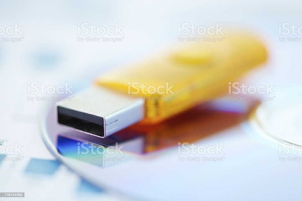 Modern data storage medium royalty-free stock photo