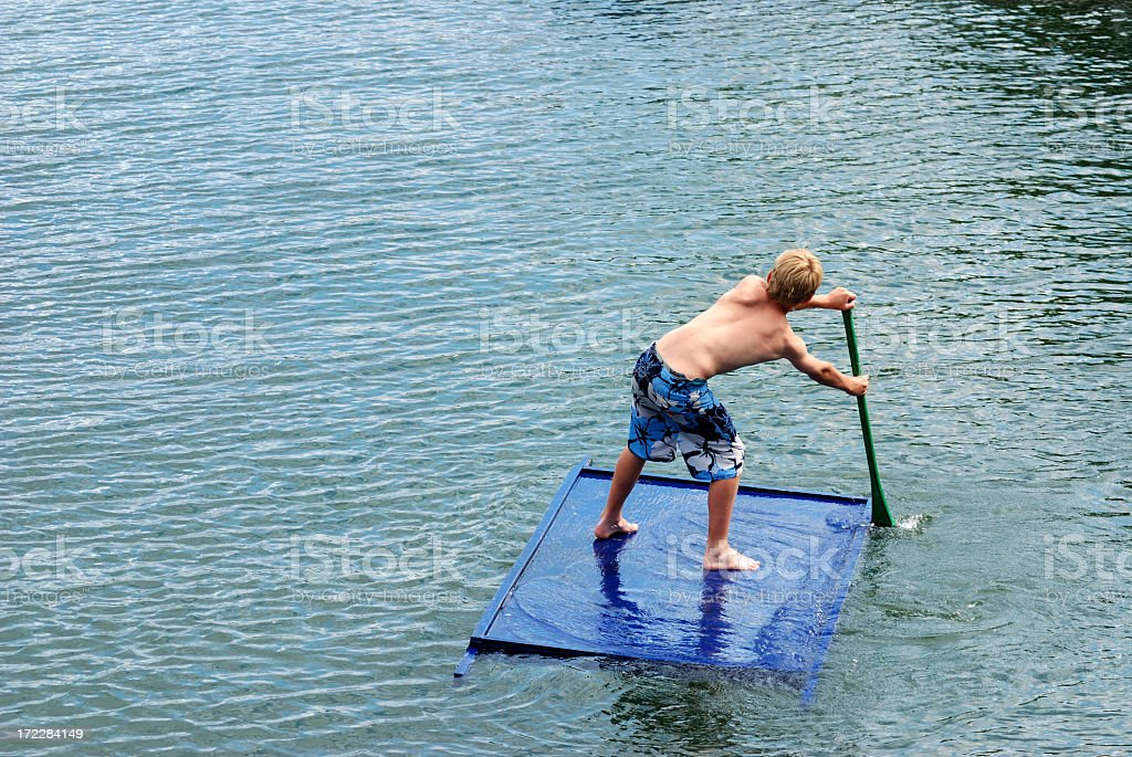 Modern Day Huck Finn stock photo