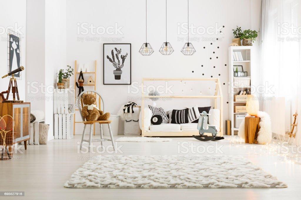 Modern decor of room stock photo