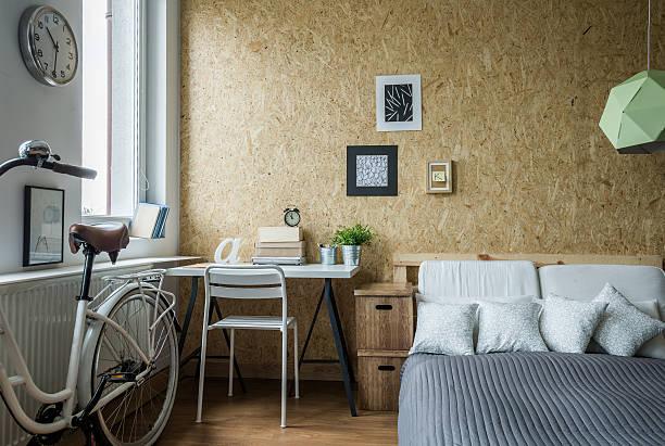 moderne dekoration im zimmer - schlafzimmer teenager stock-fotos und bilder