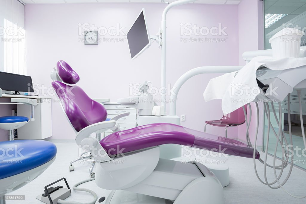 Modern dental office interior stock photo