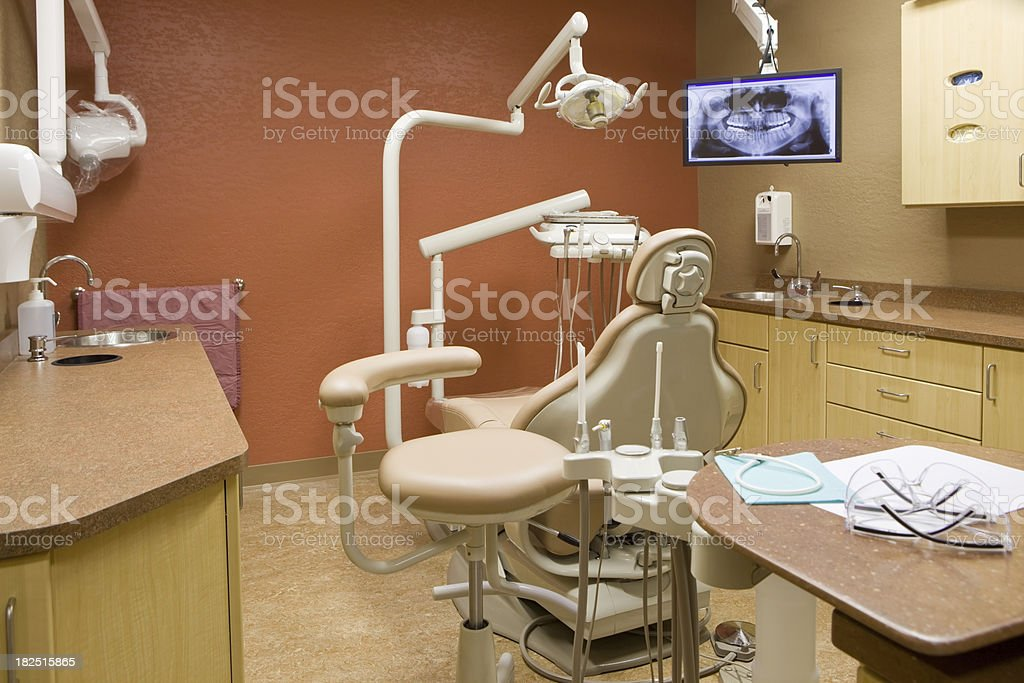 Modern Dental Office with Chair and X-Ray royalty-free stock photo