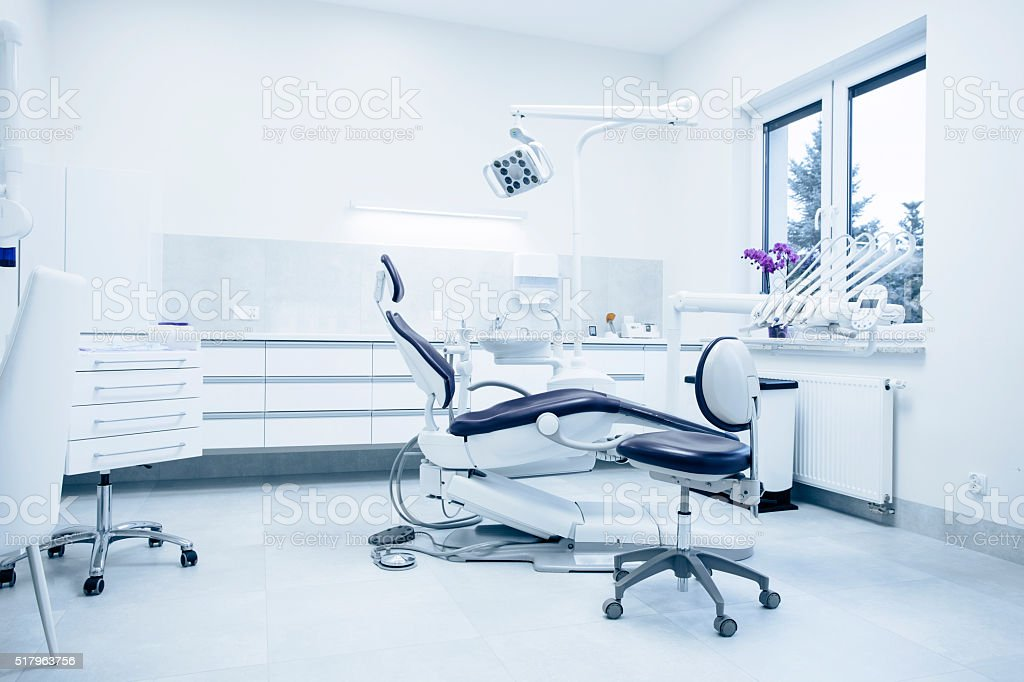 Modern dental practice. stock photo