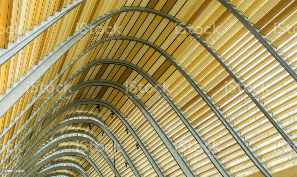 Modern Design Building Wood Roof Background Stock Photo Download Image Now Istock