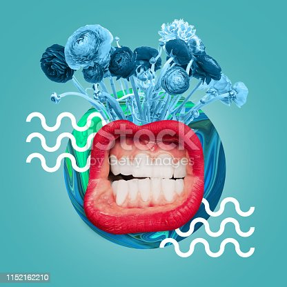 istock Modern design. Contemporary art collage. 1152162210