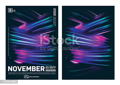 1197513976istockphoto Modern design event poster template with vibrant colors abstract shape background 1197513381