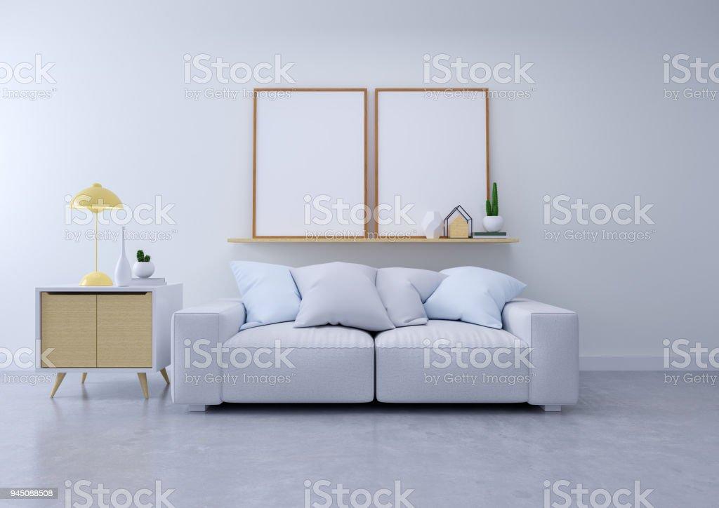 Photo libre de droit de Interior Design Moderne Du Salon Un ...
