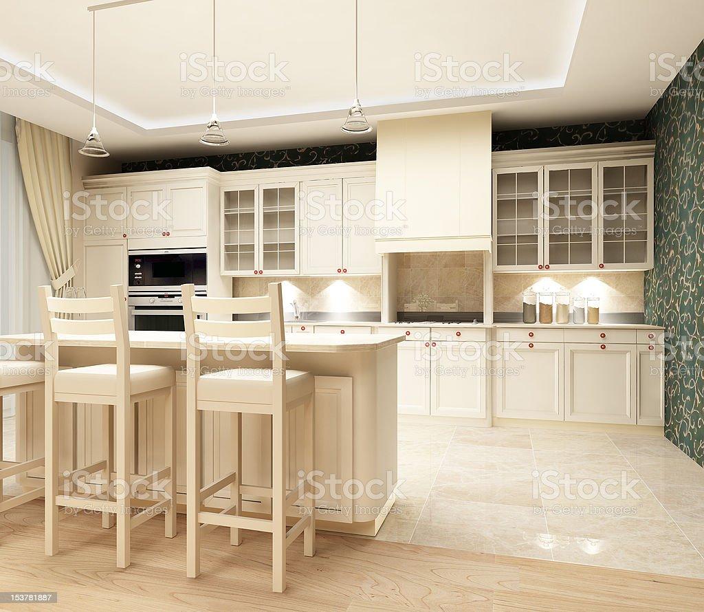 Modern design of kitchen royalty-free stock photo