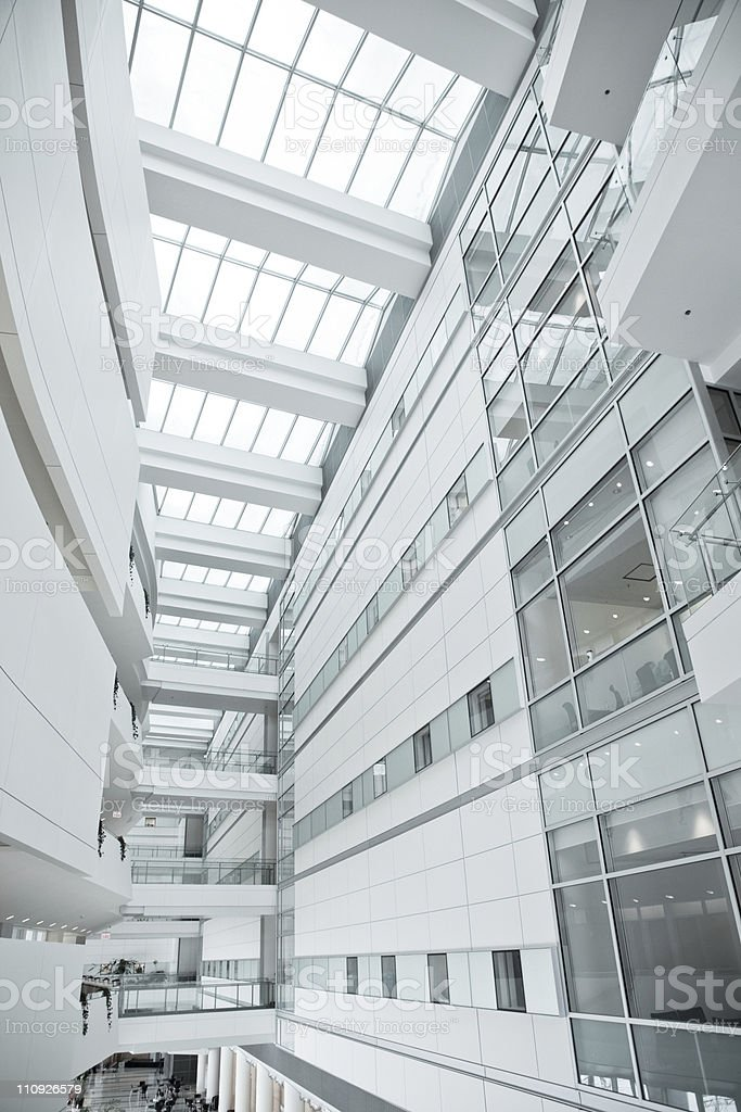 Modern design office lobby and window royalty-free stock photo