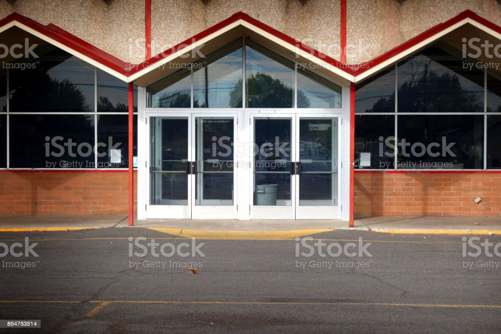 modern design storefront stock photo