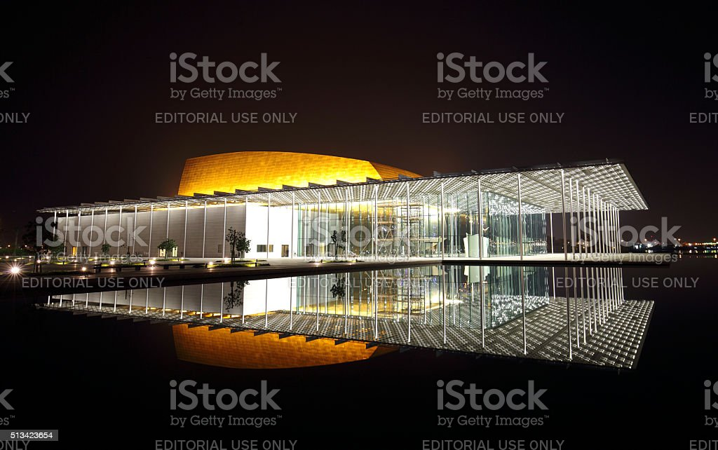 Modern designed Bahrain National Theatre with 1001 seats stock photo