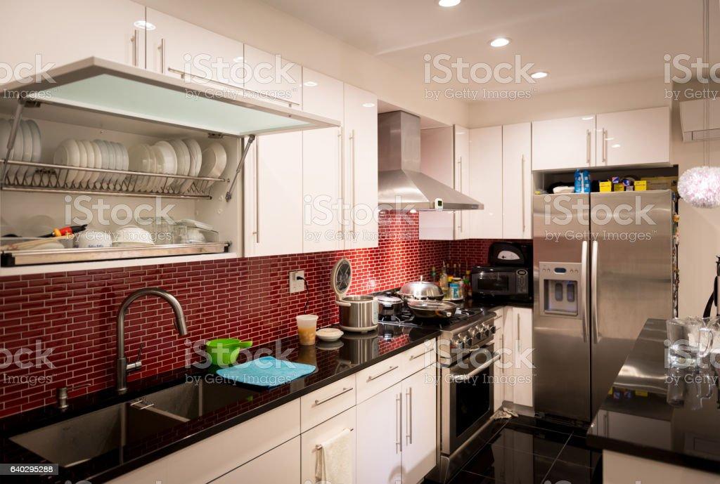 Modern designed kitchen stock photo