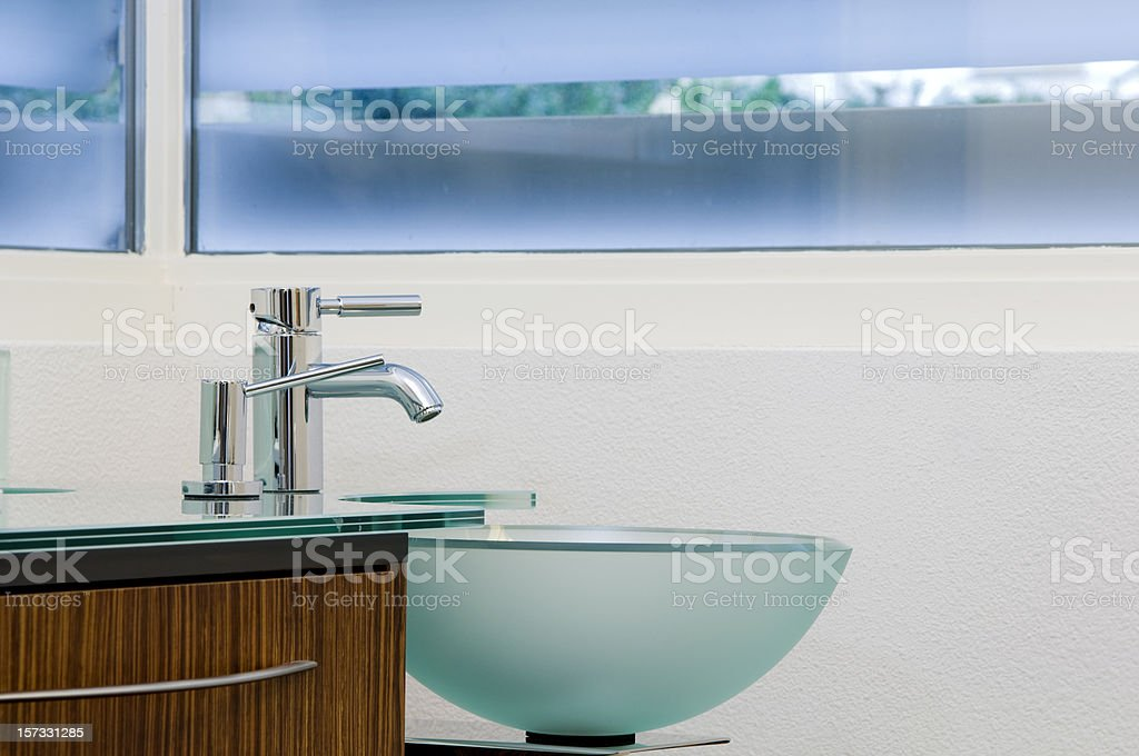 modern designed sink and stylish tap royalty-free stock photo