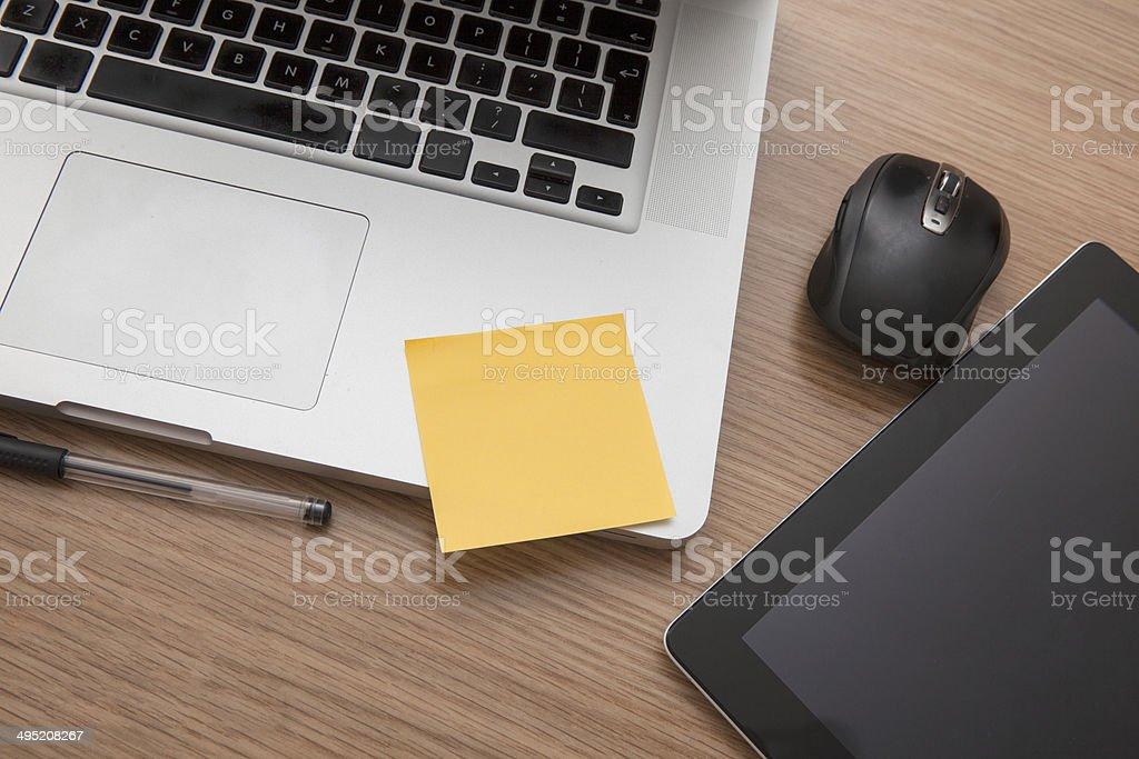 Modern desk stock photo