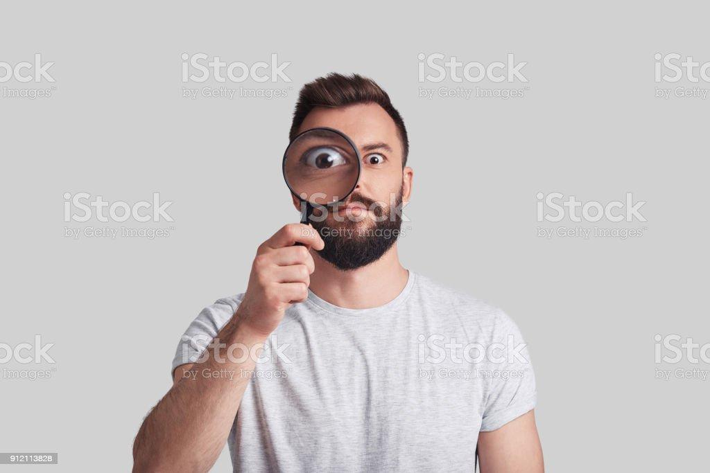 Modern detective. stock photo