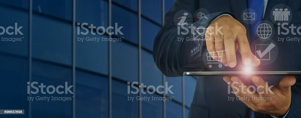 Modern digital business management stock photo